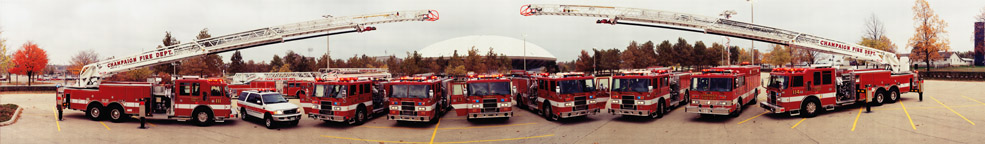 Champaign Fire Dept. at Assembly Hall Panorama