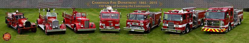 Champaign, Illinois Fire Department 150th Celebration Panorama