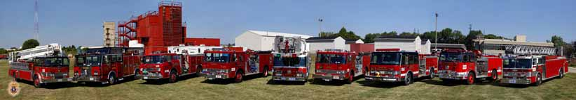 Illinois Fire Service Institute Apparatus Fleet Panorama