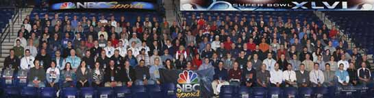 NBC Super Bowl Crew Panorama 2012