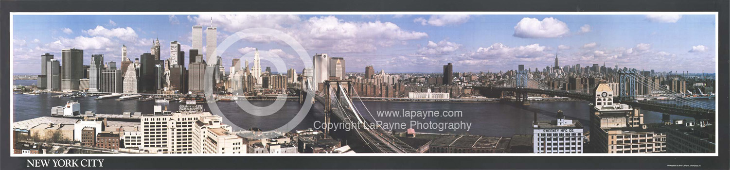 Manhattan Skyline Panoramic Poster