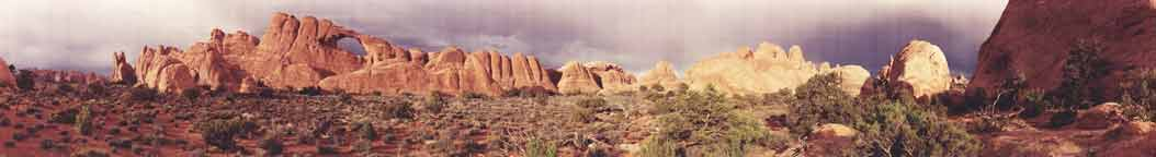 Skyline Arch of Arches National Park Panorama