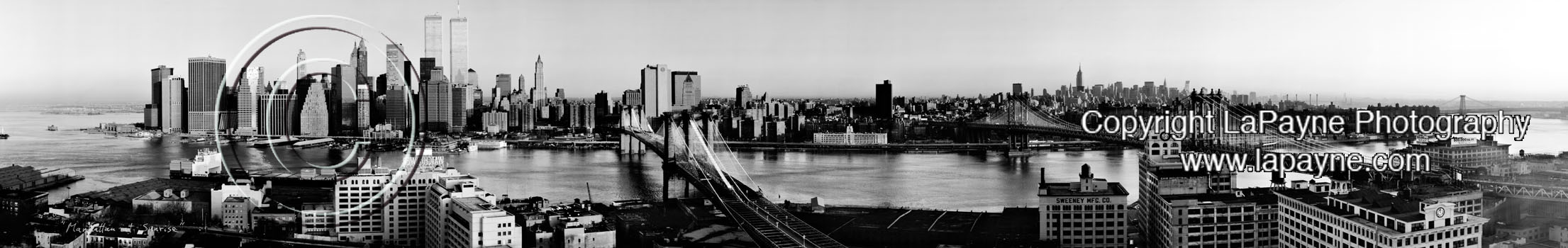 Manhattan At Sunrise 1987 - B&W