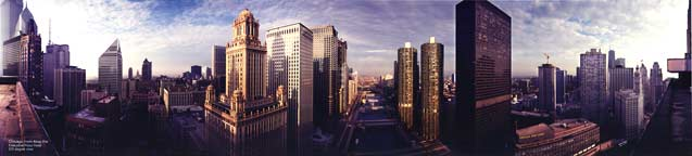 Chicago Panorama from Atop the Executive Plaza Hotel