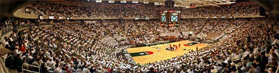 Michigan State Basketball Panorama