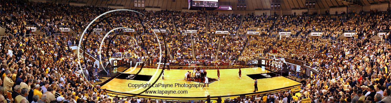 Opening Tip at Mackey Arena Panorama