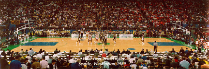 NCAA Semi Final Basketball Game Panorama