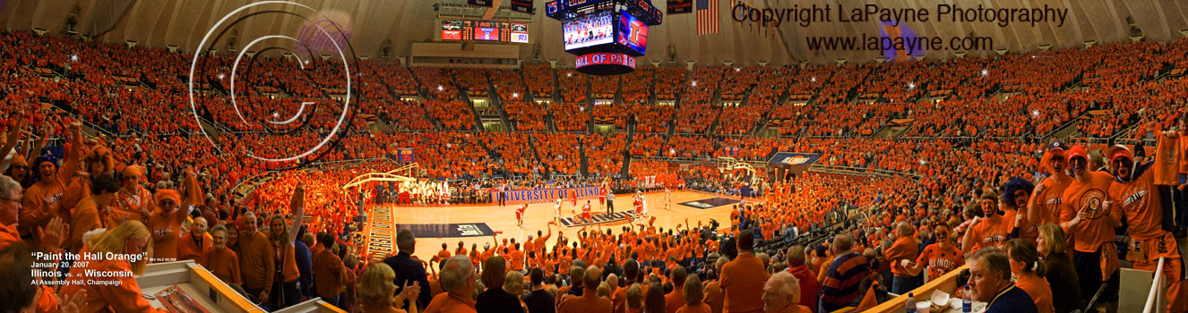 "36"" Paint the Hall Orange Panorama"