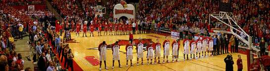 Redbird Arena @ ISU during National Anthem