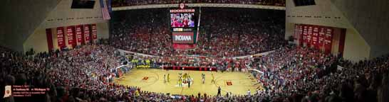 Assembly Hall, Indiana vs. Michigan Panorama