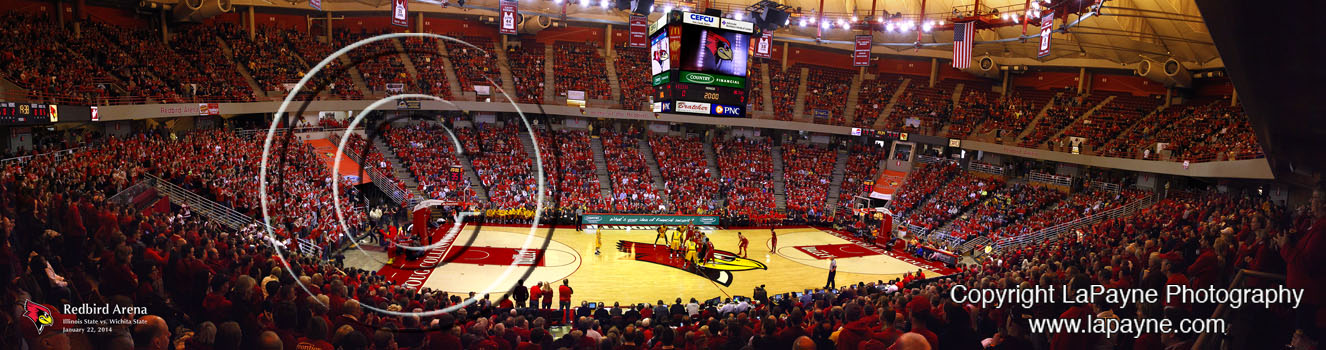 Redbird Arena Basketball Panorama
