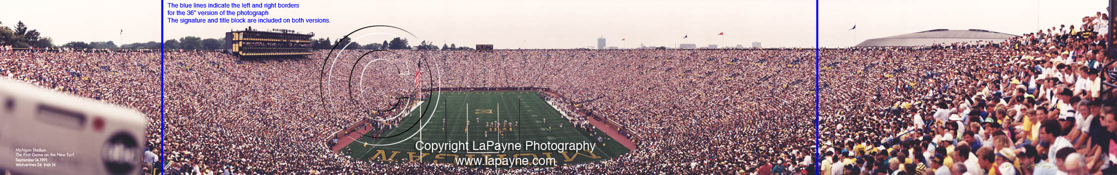 Michigan Stadium 1991 Panorama