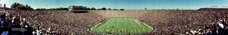 1989 Michigan Stadium Panorama