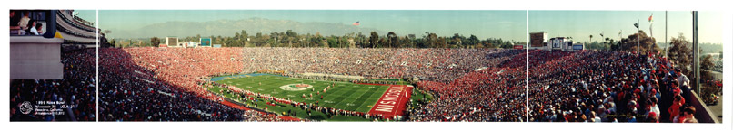 Rose Bowl Panorama  Kick-off 1999