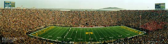 Michigan: 100th Big Game 2nd Half Kickoff Panorama