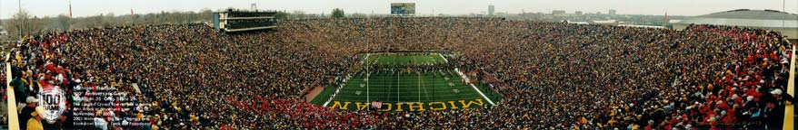 Michigan: 100th Big Game Pregame Panorama
