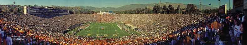 UCLA vs. USC Eight Straight 1998 at the Rose Bowl End Zone Panorama