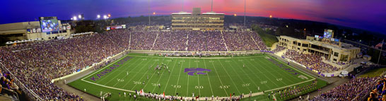 Kansas State football at Sunset Panorama