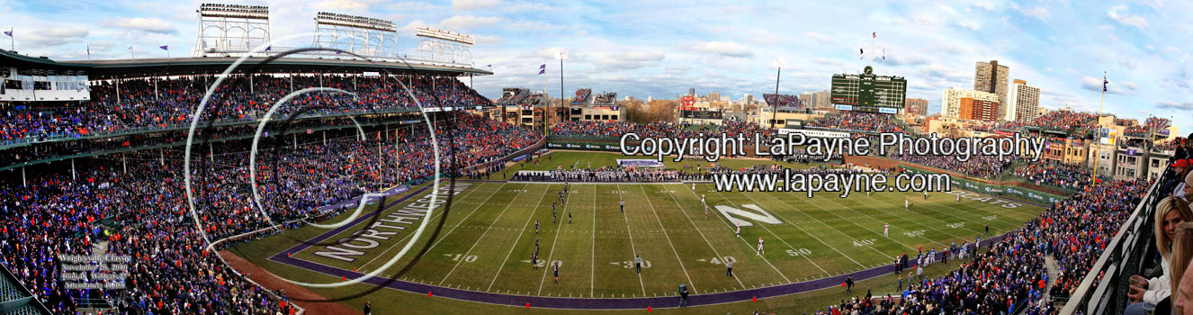 Wrigleyville Classic Football Panorama