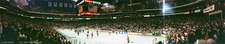 NHL 1990 Stanley Cup Playoffs Panorama