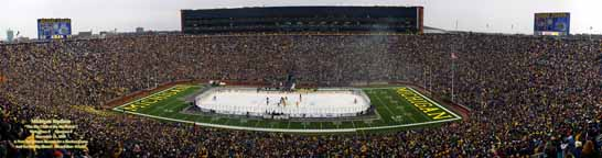 Big Chill at Michigan Stadium Panorama