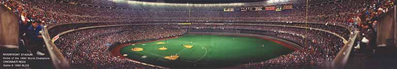 Cincinnati Riverfront Stadium - long