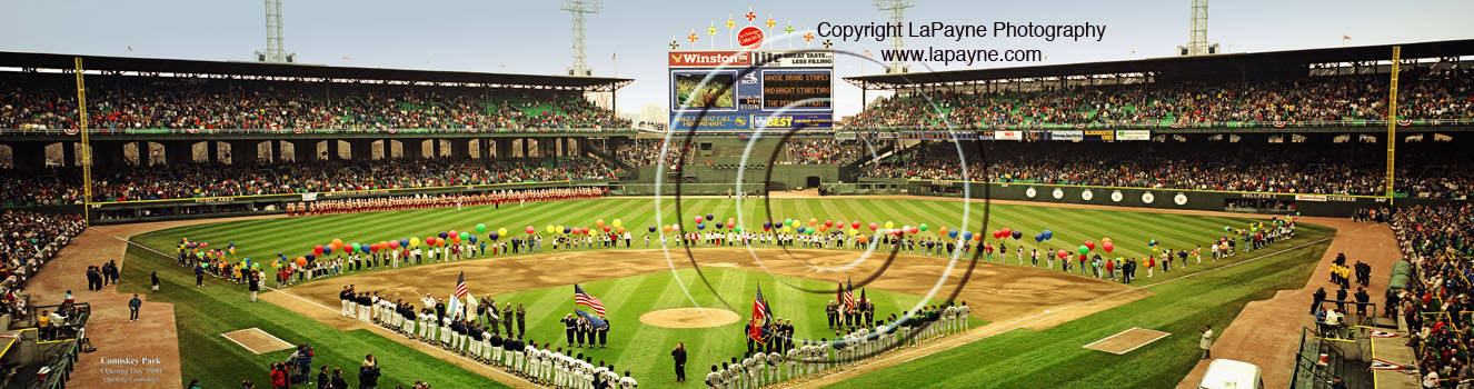 Comiskey Park, Last Opening Day Panorama 1989
