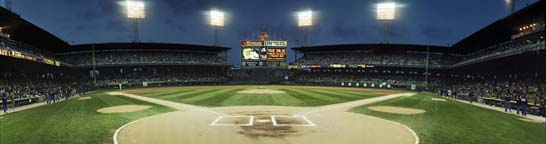 "Comiskey Park ""Turn Out the Lights Night"" Panorama"