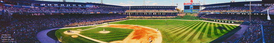 Last Game at Comiskey Park Panorama