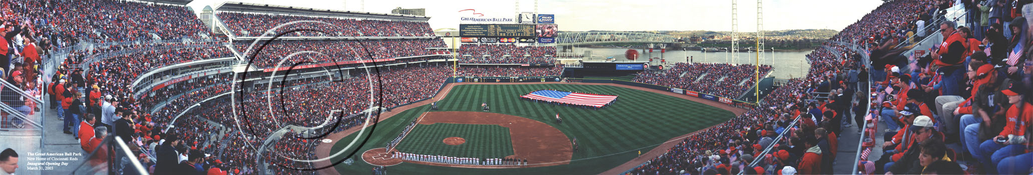 The Great American Ball Park | National Anthem Panorama