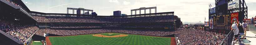 Coors Field 1995 | Center Field - During Game