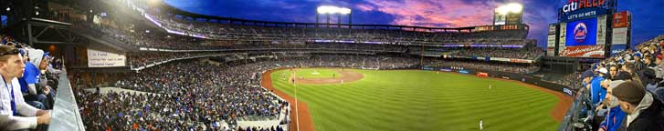 Citi Field Opening Day 2009 Sunset 48""