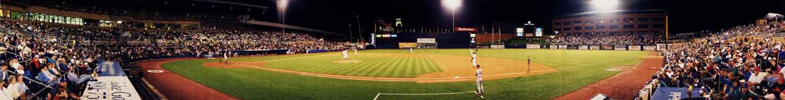 Durham Bulls Athletic Park Panorama 1998 | First Base