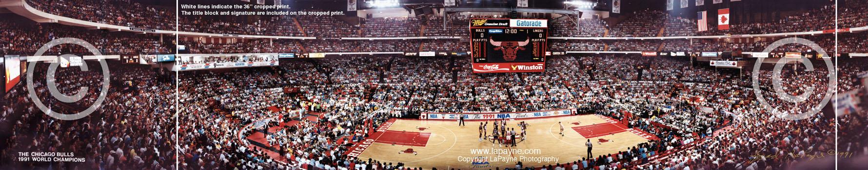 Chicago Stadium Panorama 1991 Nba Finals Panorama