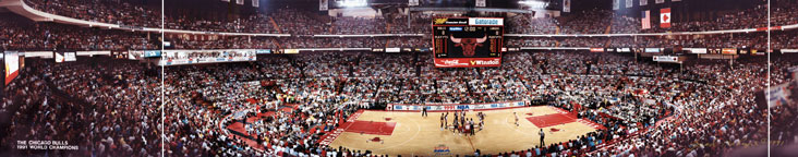 1991 NBA Finals, Chicago Stadium Panorama