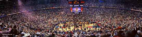 Detroit Pistons 2004 NBA Finals Game 5 Celebration Panorama
