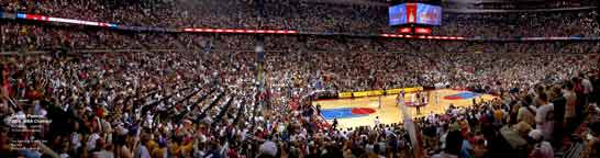 Detroit Pistons  2004 NBA Finals Panorama