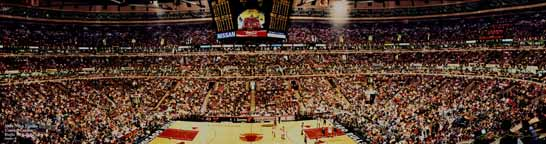 1998 NBA Finals Game 3 @ United Center Panorama