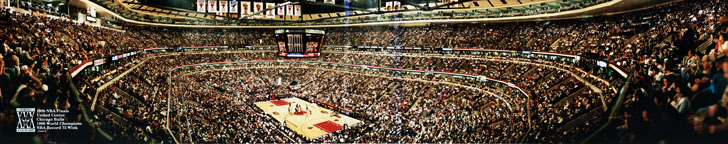 1996 Finals at United Center Panorama