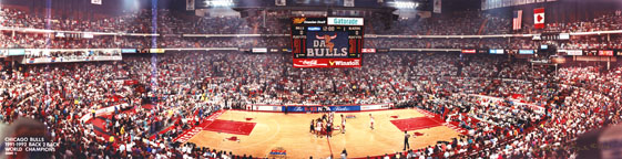 Chicago Stadium, Bulls 1992 NBA Finals Panorama