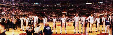 NBA Finals 1997, National Anthem and Game 6 Tip panoramas