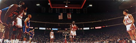 Michael Jordan at The Line, Chicago Stadium Panorama