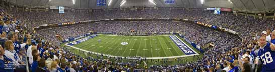 RCA Dome, Indianapolis Colts Panorama