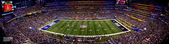 Super Bowl 46 -XLVI- 2012 - Midfield