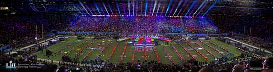 2018 Super Bowl Halftime Show Panorama